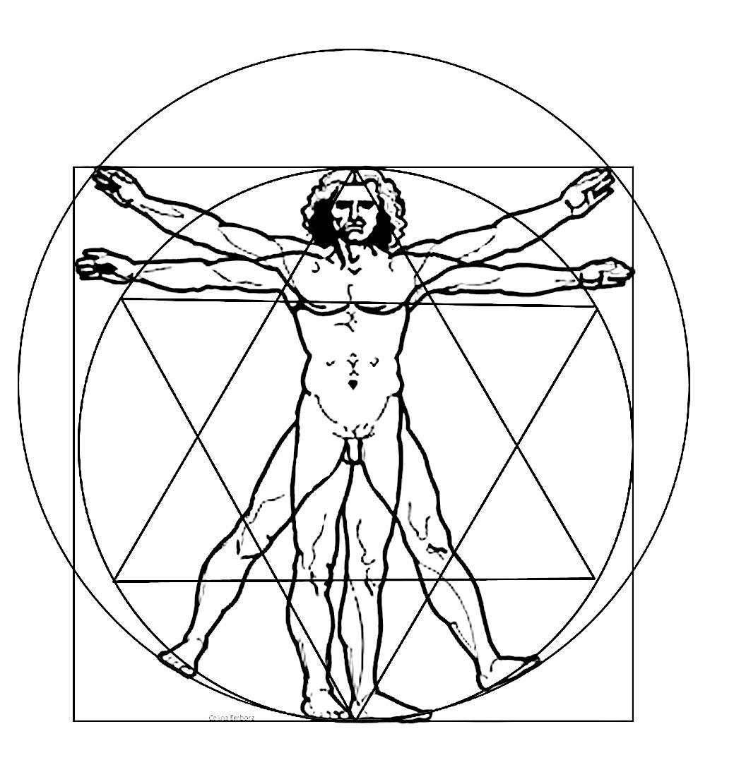 Geometria sagrada hombre Vitruvio