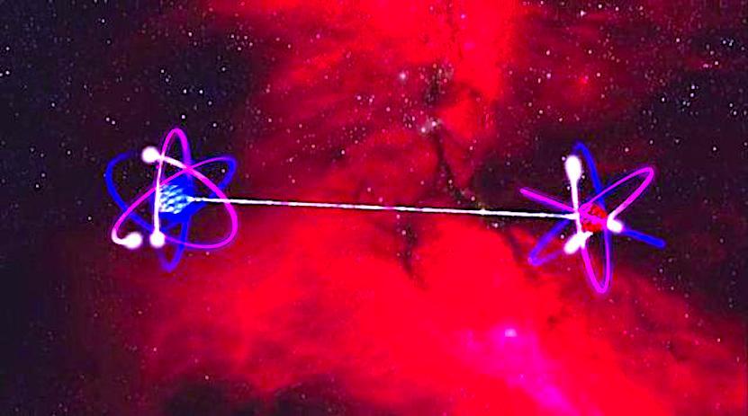 entrelazamiento átomos